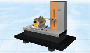 T4HD-Aero mit schwingungsgedämpftem Untertisch und Schwenktisch / Zentrumspanner